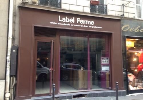 LABEL FERME – 2 RUE DU FAUBOURG POISSONNIÈRE,75009 PARIS